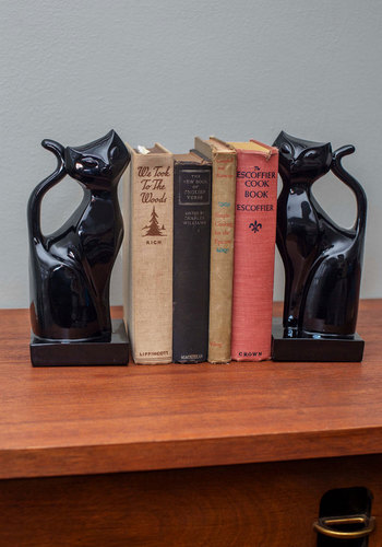 Regal Feline Bookends - Black, 60s, Mid-Century, Cats, Better, Solid, Critters, Gals, Halloween