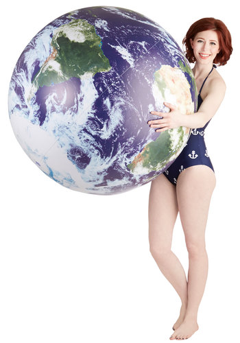 Celestial Perspective Inflatable Globe - Multi, Nifty Nerd, Cosmic, Better, Summer, Sci-fi, Guys