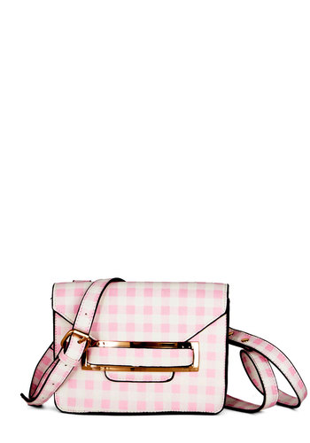Corner Candy Shop Bag by Kling - Pink, White, Gold, Trim, Spring, Summer, Good, Pink, Checkered / Gingham, Press Placement