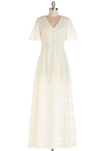 Dreamy Decisions Dress by Bea & Dot - Cotton, Long, White, Solid, Lace, Special Occasion, Wedding, Graduation, Bride, Festival, Maxi, Short Sleeves, Better, V Neck, Vintage Inspired, 70s, Exclusives, Private Label, Maternity, Summer, Boho, Full-Size Run