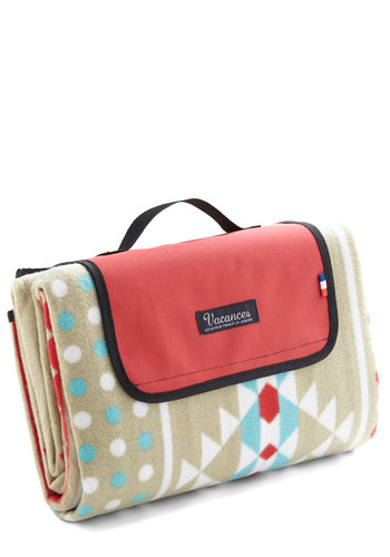 Snappy Trails Picnic Blanket - Multi, Red, Blue, Tan / Cream, White, Print, Travel