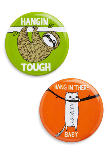 Verbs of Encouragement Magnet Set - Multi, Print with Animals, Dorm Decor, Critters