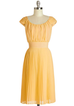 Walking by the Water Dress in Yellow