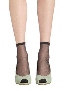 A Lining of Luxe Socks in Black