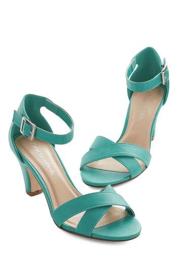 Riverboat Belle Heel - Mid, Faux Leather, Blue, Solid, Prom, Wedding, Party, Good, Strappy, Bridesmaid, Social Placements, Top Rated