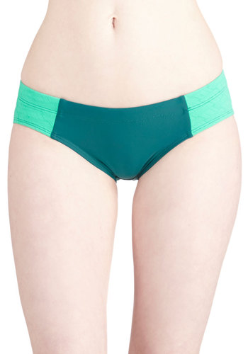 Surf's Up and Coming Swimsuit Bottom by Seea - Knit, Green, Yellow, Solid, Beach/Resort, Urban, Athletic, Summer, Bows, Colorblocking