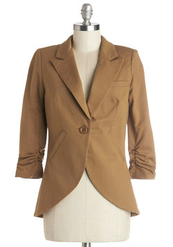 Fine and Sandy Blazer in Camel