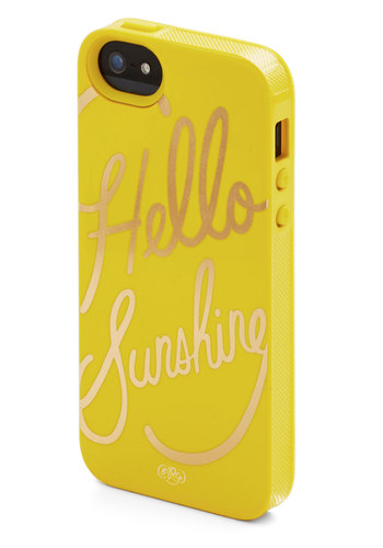 Gleeful Greeting iPhone 5/5S Case by Rifle Paper Co - Yellow, Gold, Yellow, Novelty Print, Gals, Social Placements