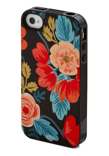 Dose of Roses iPhone 4/4S Case by Rifle Paper Co - Black, Multi, Floral, Black, Gals, Top Rated, 4th of July Sale