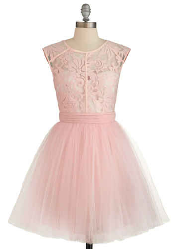 Fiercely Feminine Dress - Pink, Trim, Special Occasion, Prom, Wedding, Bridesmaid, Pastel, Sleeveless, Summer, Woven, Better, Scoop, Fairytale, Ballerina / Tutu, Tulle, Social Placements
