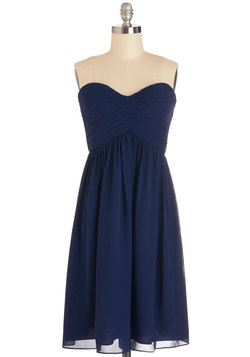 Flirting with the Idea Dress in Navy