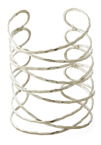 Laud of the Rings Bracelet in Silver by Mata Traders - Solid, Boho, Silver, Better, Festival, Eco-Friendly, Variation