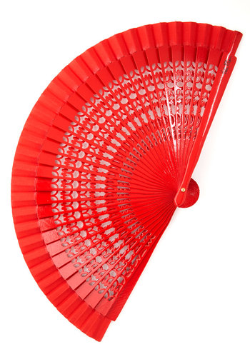 Crimson Charm Fan - Red, Solid, Wedding, Graduation, Red, Summer