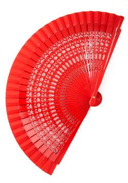 Crimson Charm Fan