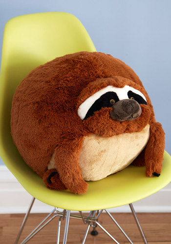 Plush One Pillow in Sloth - Critters, Better, Quirky, Variation, Gals, Brown, Print with Animals