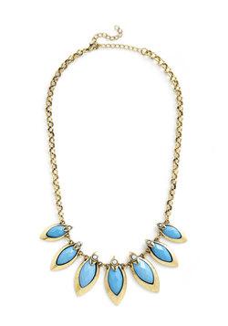 Coffee Shop Celebration Necklace in Blue