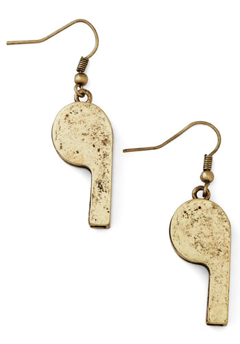 Creative Coach Earrings - Solid, Quirky, Gold, Exclusives, Darling