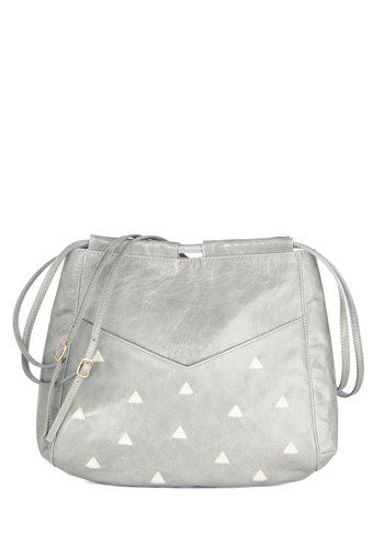 Mountaintop Mist Bag by Lauren Moffatt - Grey, Solid, Luxe, Festival, Best, Leather, Print, Work