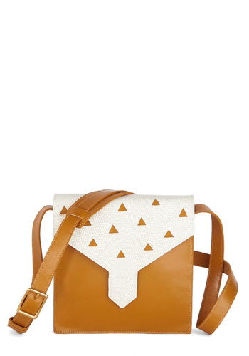 Inherent Initiative Bag by Lauren Moffatt - Leather, Tan, White, Solid, Luxe, Festival, Print, Boho