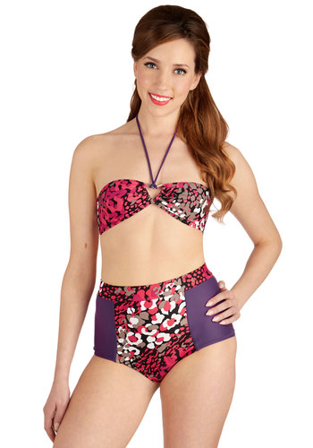 Be Back in a Splash Two-Piece Swimsuit available from ModCloth, Click for more Details