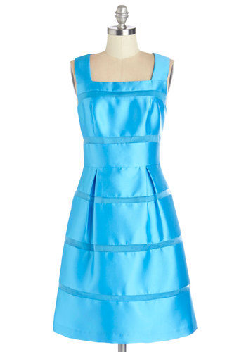 Azure the One for Me Dress - Blue, Solid, Special Occasion, Prom, Wedding, Bridesmaid, Homecoming, Fit & Flare, Sleeveless, Better, Woven, A-line, Long, Full-Size Run, Party, Vintage Inspired, 50s