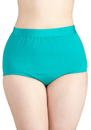 Seaside Serenity Swimsuit Bottom in Jade - Plus Size by Monif C - Green, Beach/Resort, Knit, Solid, Minimal, Summer, Variation, Basic