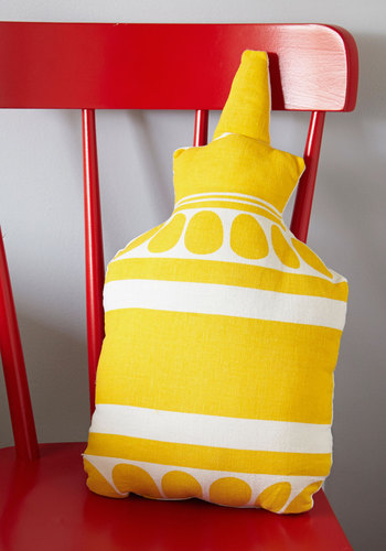 Pass the Mustard Pillow - Summer, Americana, Yellow, Food, Good, White, Exclusives, Guys, Graduation, Press Placement