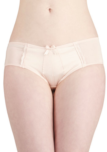 Glowing Grace Undies in Rosewater - Pink, Solid, Pastel, Good, Knit, Bows, Wedding, Bride, Vintage Inspired