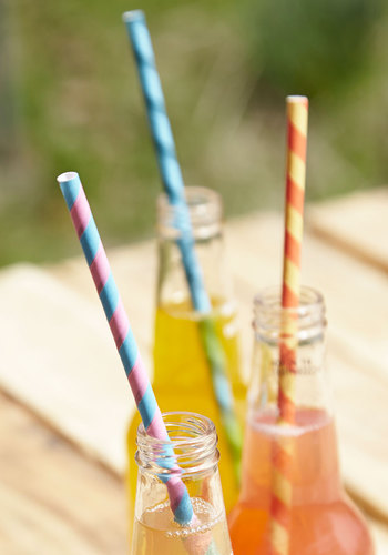 Sip, Sip, Hooray! Straws by Kikkerland - Summer, Americana, Multi, Better, Stripes, Hostess