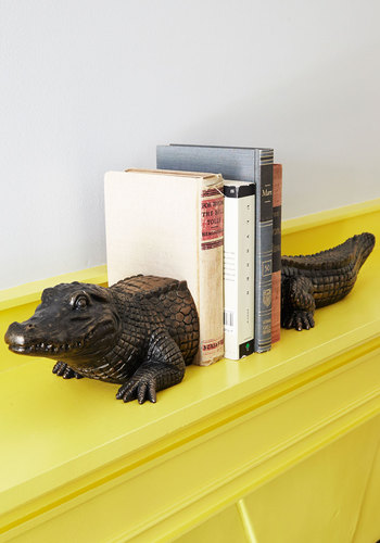 What's Up Croc Bookends - Bronze, Critters, Guys