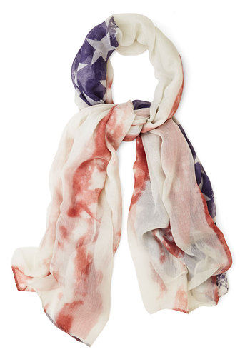 Glam That I Love Scarf - Multi, Casual, Multi, Americana, Novelty Print