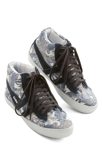 Gotta Get Outside Sneaker by Gola - Flat, Leather, Woven, Grey, Black, Floral, Casual, Urban, Best, Lace Up