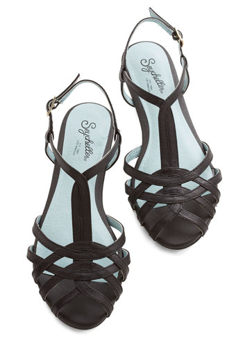 Can't Trust Myself Sandal in Black by Seychelles - Flat, Faux Leather, Black, Solid, Casual, Beach/Resort, Summer, Best, T-Strap, Variation