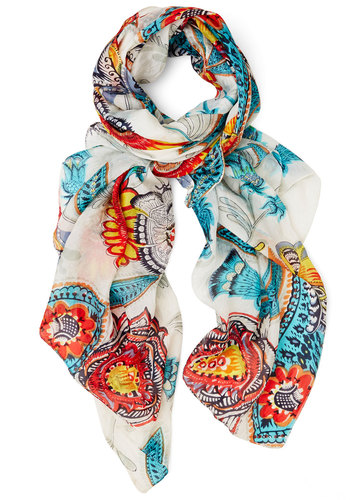 Finding the Fun Scarf - Floral, Luxe, Best, Sheer, Woven, Multi, Social Placements, Top Rated