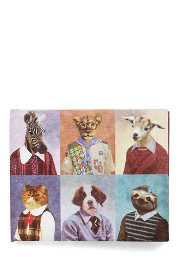 Cool Picture Day Wallet - Multi, Print with Animals, Quirky, Eco-Friendly, Critters