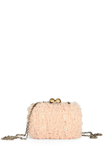 Party Perfection Clutch by Darling - Pink, White, Solid, Pearls, Wedding, Bridesmaid, Luxe, Better, International Designer, Mixed Media, Pastel, Social Placements