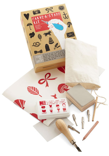 Carve-a-Stamp Kit - Multi, Handmade & DIY, Good, Gals