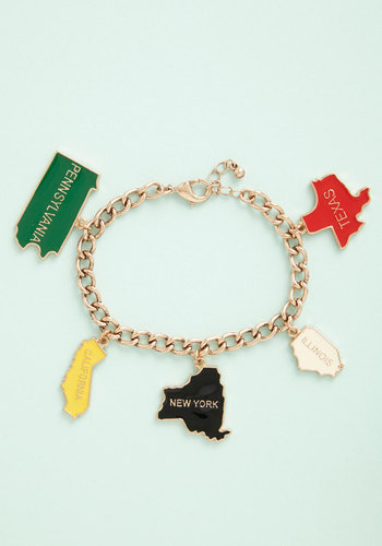 Interstate of Bliss Bracelet - Multi, Solid, Americana, Gold, Exclusives, Travel, Social Placements