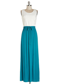 Cute Collaboration Dress in Teal