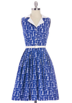 Beacon of Charm Dress in Coast