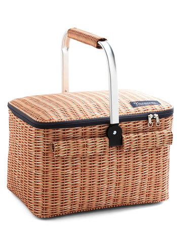 Woods of Wisdom Picnic Cooler - Tan, Americana, Better, Print, Summer