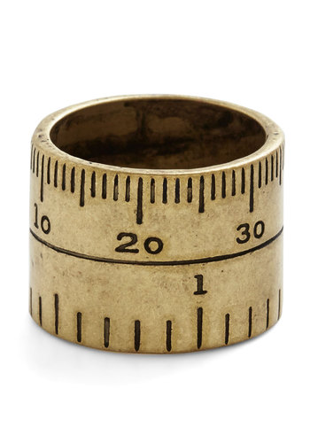 Unity of Measure Ring - Solid, Nifty Nerd, Gold