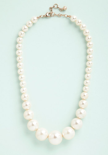 Grand Central Sophistication Necklace - Cream, Solid, Pearls, Special Occasion, Wedding, Americana, Exclusives, White, Top Rated