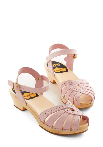 Sweet Steppin' Heel - Pink, Solid, Cutout, Casual, Daytime Party, Darling, Best, Platform, Peep Toe, Chunky heel, Mid, Leather