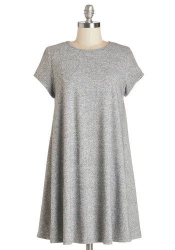 Static Felicity Tunic - Grey, Short Sleeve, Long, Knit, Grey, Solid, Casual, Short Sleeves, Maternity