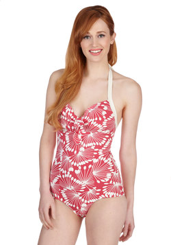 The Palm That I Want One Piece Swimsuit in Dandelions