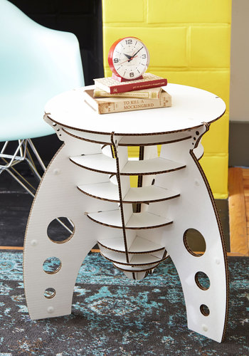 Have a Blast Off Accent Table - White, Sci-fi, Cosmic, Better, Solid, Guys, Graduation