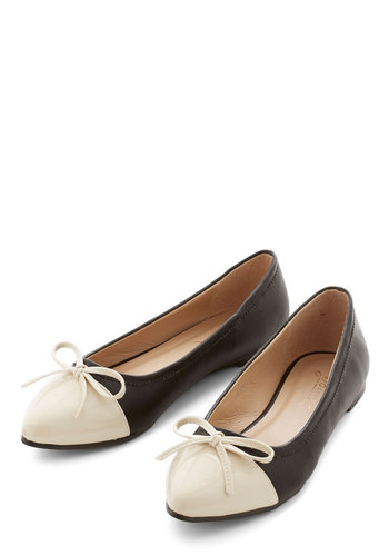 Timelessly Tasteful Flat - Flat, Faux Leather, Black, Solid, Bows, Party, Work, Good, Tan / Cream