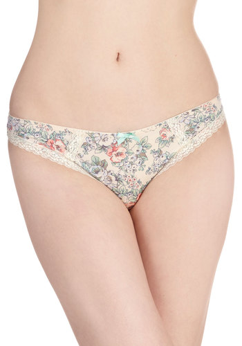 Florist's Touch Undies - Cream, Multi, Pastel, Good, Floral, Vintage Inspired, Summer, Knit, Boudoir