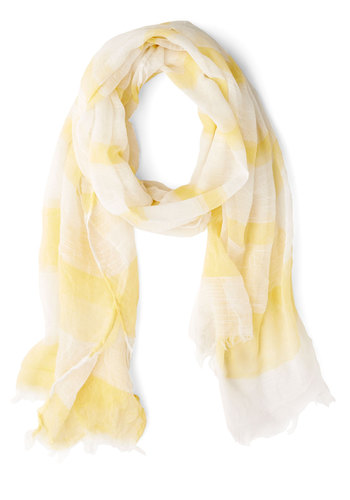 You Meringue? Scarf - Yellow, White, Stripes, Casual, Nautical, Variation, Yellow